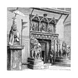 Hanuman Gate of the Royal Palace, Kathmandu, Nepal, 1895 Giclee Print by C Goutzwiller