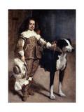 Court Dwarf Don Antonio El Inglés, 1640-1645 Giclée-Druck von Diego Velasquez