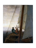 On Board a Sailing Ship, Between 1818 and 1820 Giclee Print by Caspar David Friedrich