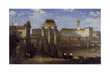 The Forum, Rome Giclee Print by David Roberts