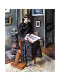Younger Person Reading, 1906 Giclee Print by Charles Guerin