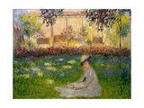 Woman in a Garden, 1876 Giclee Print by Claude Monet