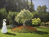 Lady in the Garden, 1867 Reproduction procédé giclée par Claude Monet