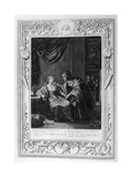 Leucothoe Seduced by Apollo in the Shape of Eurynome, 1733 Giclee Print by Bernard Picart