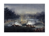 View of a Sham Fight on the Serpentine, Hyde Park, London, 1814 Giclee Print by Charles Calvert