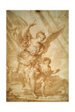 Guardian Angel, 17th Century Giclee Print by Domenico Piola