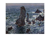 The Rocks in Belle-Ile (Pyramides De Port-Coton, Mer Sauvag), 1886 Giclee Print by Claude Monet