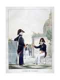 Uniform of the Invalides, France, 1823 Giclee Print by Charles Etienne Pierre Motte