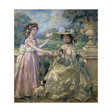 Two Girls on a Terrace, 1903 Giclee Print by Charles Guerin