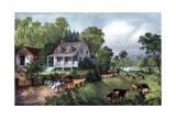 American Homestead in Summer  1868