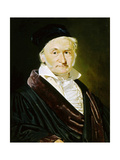 Karl Friedrich Gauss, German Mathematician, Astronomer and Physicist, 1840 Giclee Print by Christian Albrecht Jensen