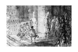Swiss Guards and French Soldiers at the Vatican Giclee Print by Constantin Guys