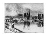 Rouen, Cours La Reine, C1850-1900 Reproduction procédé giclée par Camille Pissarro