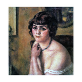 Head of Young Girl, 1909 Giclee Print by Charles Guerin
