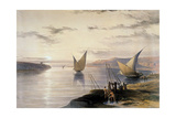 Boats on the Nile, C1838-1839 Giclee Print by David Roberts