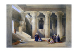 Interior of the Temple at Esna, Upper Egypt, 1838 Giclee Print by David Roberts