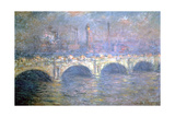 The Waterloo Bridge, London, 1903 Giclee Print by Claude Monet