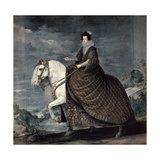 Queen Isabella of Bourbon, 1629-1635 Giclee Print by Diego Velasquez