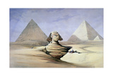 The Great Sphinx and Pyramids at Giza, 1838-1839 Giclée-tryk af David Roberts