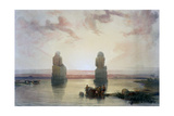 The Colossi of Memnon, at Thebes, During the Inundation, 19th Century Giclee Print by David Roberts