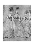 Four Ladies, 19th Century Giclee Print by Constantin Guys