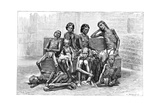Famine Victims, India, 1895 Giclee Print by Charles Barbant