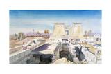 Karnak, Egypt, 1863 Giclee Print by Charles Emile De Tournemine