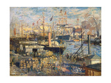 Grand Quai at Havre, 1872 Giclee Print by Claude Monet