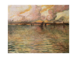 Seascape with Distant View of Venice, 1896 Giclee Print by Charles Cottet