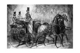 A Dandy Driving, 19th Century Giclee Print by Constantin Guys