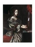 Saint Cecilia, 1640S Giclée-tryk af Carlo Dolci