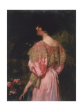 The Rose-Coloured Gown (Miss Gile), 1896 Giclee Print by Charles Henry Malcolm Kerr