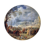 The Sermon of Christ at the Genezareth Lake, 1623 Giclée-Druck von David Vinckboons