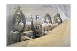 Front Elevation of the Great Temple of Abu Simbel, Nubia, 19th Century Giclee Print by David Roberts