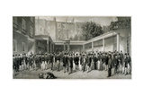 Tattersall's Horse Sale Yard at Hyde Park Corner, London, Pre 1865 Giclee Print by Charles Mottram