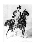 A Dandy, 19th Century Giclee Print by Constantin Guys