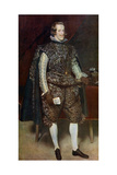 Philip IV of Spain in Brown and Silver, C1631-1632 Giclee Print by Diego Velasquez