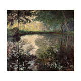 Pond at Montgeron, C1876 Giclee Print by Claude Monet