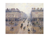 L'Avenue De L'Opéra, Snow, Morning, 1898 Giclee Print by Camille Pissarro