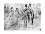 Assembly, 19th Century Giclee Print by Constantin Guys