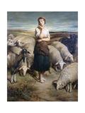 Saint Genevieve, C1810-1880 Gicléedruk van Charles-Emile-Callande de Champmartin