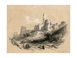 The Tower of David, Jerusalem, Israel, 1855 Giclee Print by David Roberts