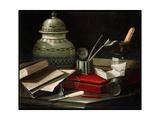 Still Life with Writing Implements, Late 17th or Early 18th Century Giclee Print by Cristoforo Monari