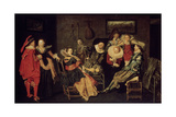 The Merry Company, 17th Century Giclee Print by Dirck Hals