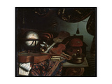 Still Life with Musical Instruments, 1718 Giclee Print by Bonaventura Bettera