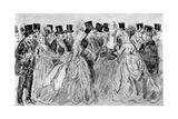 Le Promenoir, 19th Century Giclee Print by Constantin Guys