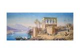 Philae, Egypt, 1863 Giclee Print by Charles Emile De Tournemine