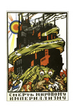 Death to World Imperialism, Poster, 1919 Giclée-tryk af Dmitriy Stakhievich Moor