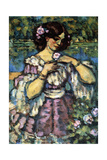Woman with Rose, 1901 Giclee Print by Charles Guerin