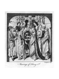 Marriage of Henry VI, 1445 Giclee Print by Charles Grignion